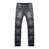Denim Men Jeans frayed Solid blue Sold By PC