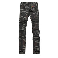 Cotton Men Pencil Pants printed camouflage army green Sold By PC