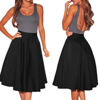 Spandex & Polyester Ball Gown Skirt knee-length Solid Sold By PC