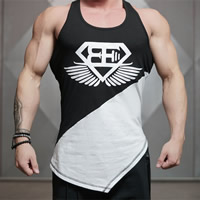 Cotton Men Athletic Tank, different size for choice & breathable, printed, patchwork, Sold By PC
