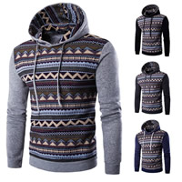 Polyester & Cotton Men Sweatshirts, different size for choice & more thicker and more wool, printed, patchwork, more colors for choice, Sold By PC