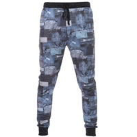 Polyester   Cotton Men Casual Pants printed geometric