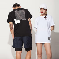 Cotton Unisex Short Sleeve T-shirt, different size for choice & loose, printed, more colors for choice, Sold By PC