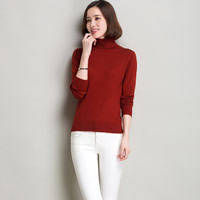 Woolen   Polyester Plus Size Women Sweater Solid