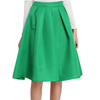 Cotton Pleated & A-line Skirt Solid Sold By PC