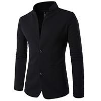 Cotton Plus Size Men Leisure Suit patchwork black Sold By PC