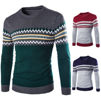 Cotton Men Sweater geometric Sold By PC