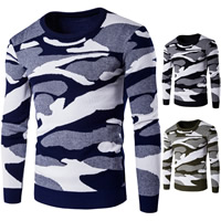 Cotton Men Sweater, different size for choice, knitted, camouflage, more colors for choice, Sold By PC