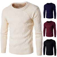 Cotton Men Sweater thermal knitted Solid