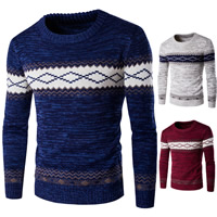 Cotton Men Sweater, different size for choice & thermal, knitted, geometric, more colors for choice, Sold By PC