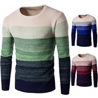 Cotton Men Sweater thermal knitted patchwork