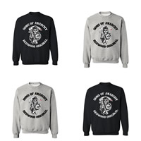 Cotton Men Sweatshirts, different size for choice, printed, skull pattern, more colors for choice, Sold By PC
