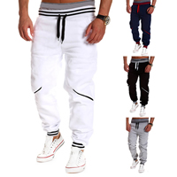 Polyester   Cotton Men Sports Pants loose patchwork Sold By PC