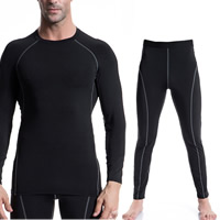 Spandex   Polyester Men Quick Dry Clothing Set Pants   top patchwork Sold By Set