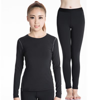 Spandex & Polyester Women Quick Dry Clothes Set, different size for choice, Pants & top, Solid, more colors for choice, Sold By Set