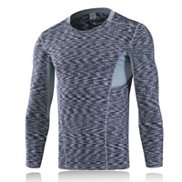 Spandex   Polyester Men Quick Dry Tops patchwork