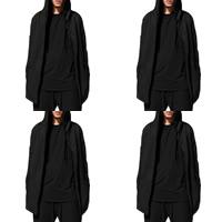 Cotton Plus Size Men Coat loose Solid black