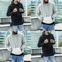 Cotton Men Sweatshirts, different size for choice, patchwork, more colors for choice, Sold By PC