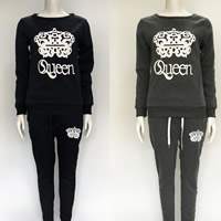 Cotton Women Casual Set, different size for choice, Pants & top, printed, letter, more colors for choice, Sold By Set