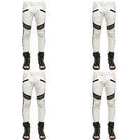 Denim Men Pencil Pants patchwork white Sold By PC