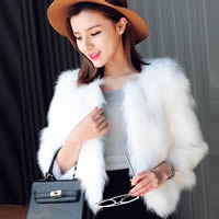 Fake Fur Women Coat Solid Sold By PC