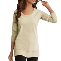 Polyester Women Long Sleeve T-shirt, different size for choice, Solid, more colors for choice, Sold By PC