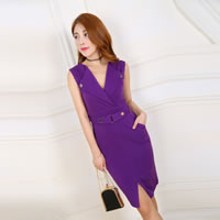 Polyester Women Business Dress Suit, different size for choice, Solid, more colors for choice, Sold By PC