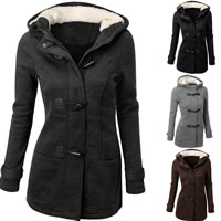 Mixed Fabric & Wool Women Coat Solid Sold By PC