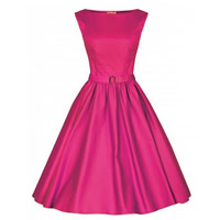 Polyester   Cotton Princess One-piece Dress with belt Solid Sold By PC