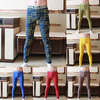Cotton Men Thermal Long Johns breathable printed geometric Sold By PC