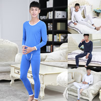 Polyester & Cotton Men Thermal Underwear Sets printed dot Sold By Set