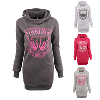 Polyester   Cotton Sweatshirts Dress printed letter