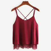 Chiffon Sleeveless Nightclub Top, backless, wine red, Size:Free Size, Sold By PC