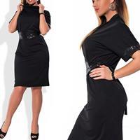 Polyester Plus Size One-piece Dress, different size for choice, patchwork, more colors for choice, Sold By PC