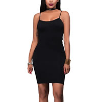 Spandex & Polyester Sexy Package Hip Dresses, different size for choice, plain dyed, Solid, more colors for choice, Sold By PC