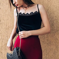 Polyester   Cotton Camisole plain dyed patchwork