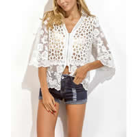 Cotton Swimming Cover Ups hollow embroider Solid white Size:Free Size Sold By PC