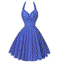 Polyester & Cotton One-piece Dress printed dot Sold By PC
