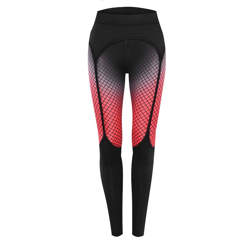 Spandex   Polyester Women Yoga Pants printed plaid black Sold By PC