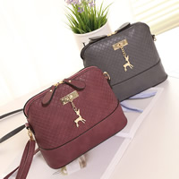 PU Leather & Polyester Shoulder Bag with Zinc Alloy Solid Sold By PC