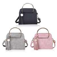 PU Leather Shoulder Bag attached with hanging strap with Polyester Solid Sold By PC