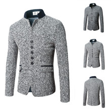 Wool Plus Size Men Coat Solid Sold By PC