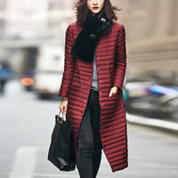 Nylon Women Down Coat mid-long style different styles for choice plain dyed Solid Sold By PC
