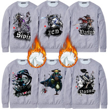 Spandex & Cotton Men Sweatshirts more thicker and more wool printed different pattern for choice grey Sold By PC