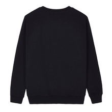Spandex & Cotton Men Sweatshirts more thicker and more wool plain dyed Solid black Sold By PC