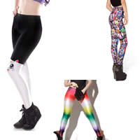 Polyester Women Leggings lift the hip breathable with Spandex printed different pattern for choice Size:Free Size Sold By PC