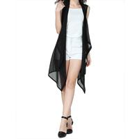 Chiffon Women Vest & regular & transparent Solid Sold By PC
