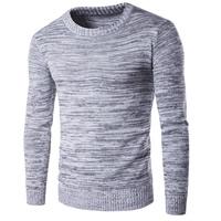 Algodón Suéter Hombre, de punto, Sólido, gris,  trozo