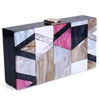 Acrylic Clutch Bag geometric Sold By PC