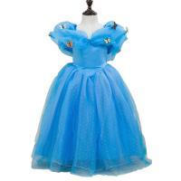 Gaas & Polyester Kinderen Prinses Kostuum Lappendeken vlinderpatroon Blauwe stuk